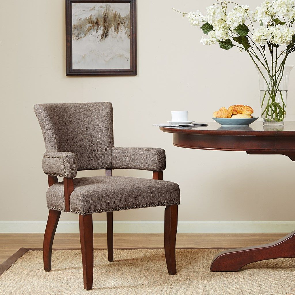 We source our exotic materials across the globe to give you the finest with the least cost. Dawson Arm Dining Chair - Madison Park | Dining chairs ...