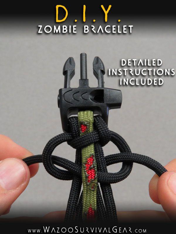 Zombie Diy Paracord Bracelet Survival Gear Paracord And Paracord