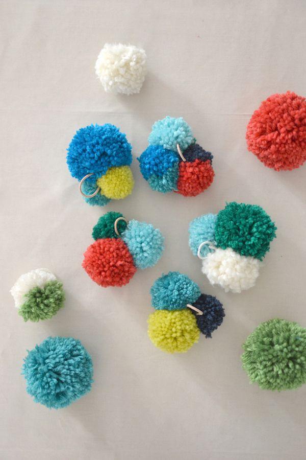 Cmo hacer pompones de lana fciles y triunfar Pinterest