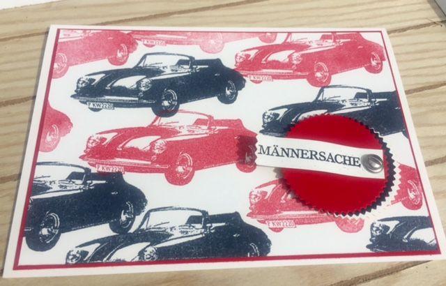 Mannerkarte N 3 Auto Handlettering Geburtstag Karten