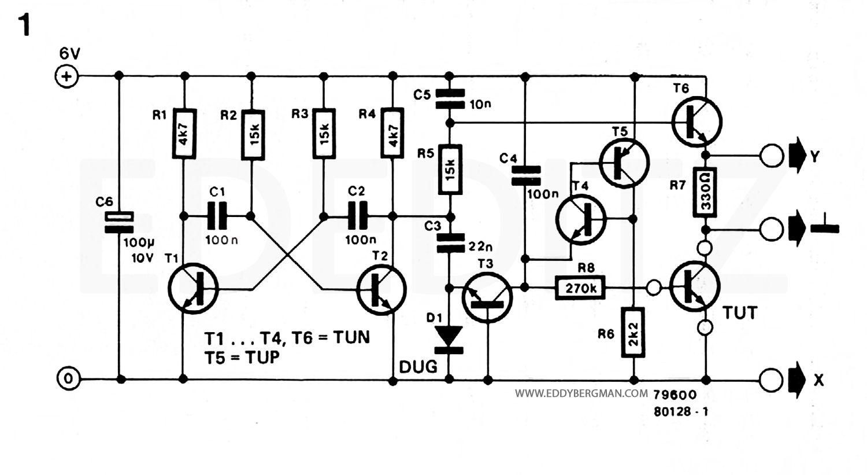 Eddy Bergman Com Simple But Effective Transistor Curve Tracer Circuit Transistors Circuit Tracer