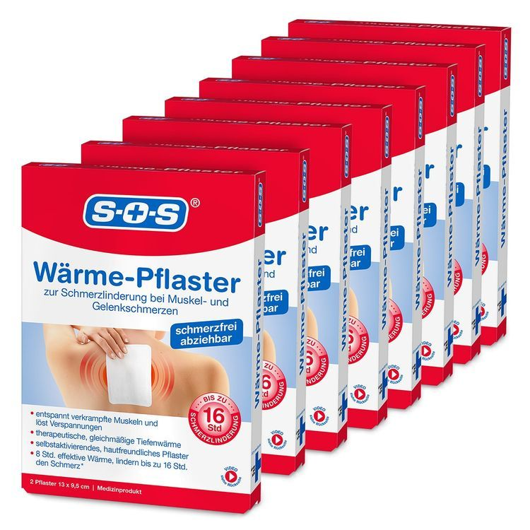 Sos Warme Pflaster 8er Pack 16 Pflaster Muskel Und