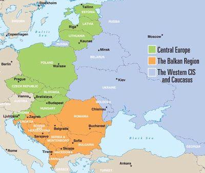 europe de l est carte