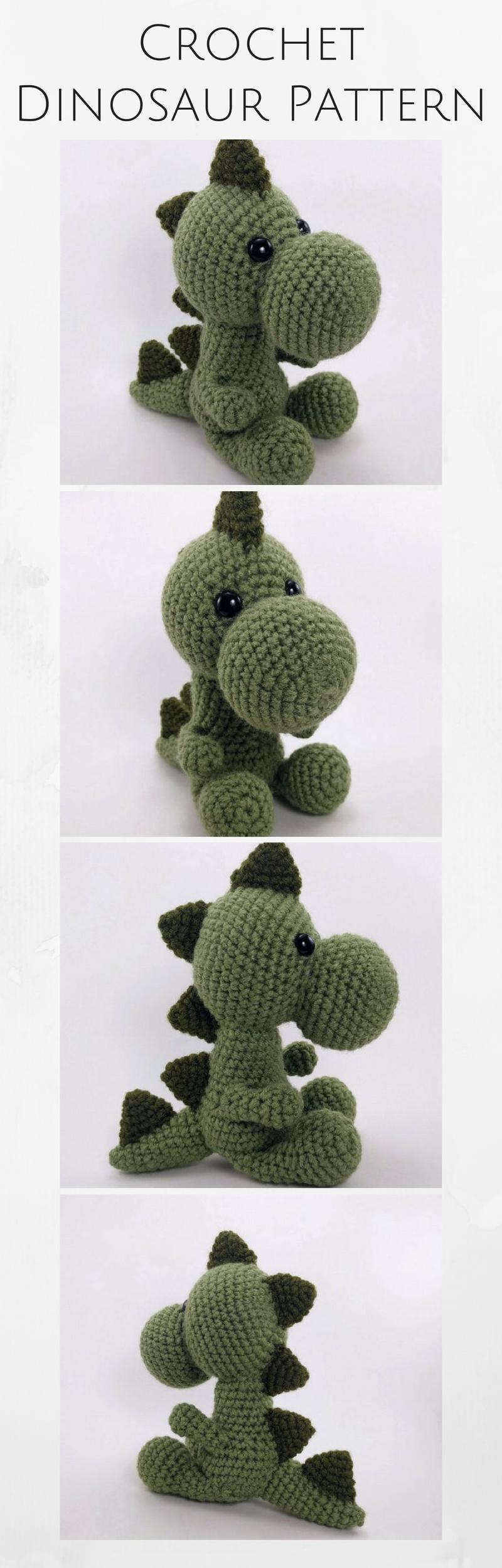PATTERN: Mr. Dinosaur - Crochet dinosaur pattern - amigurumi ...
