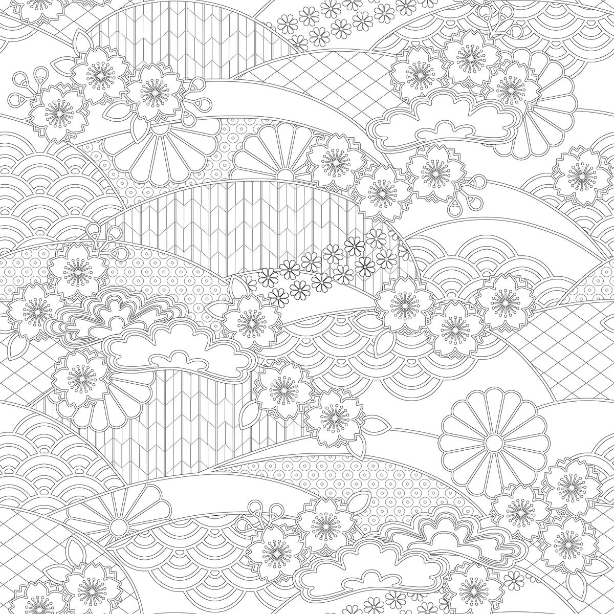 traditional Japanese pattern_to color_ http://www.pixiv.net/member_illust.php?mode=medium&illust_id=34278668