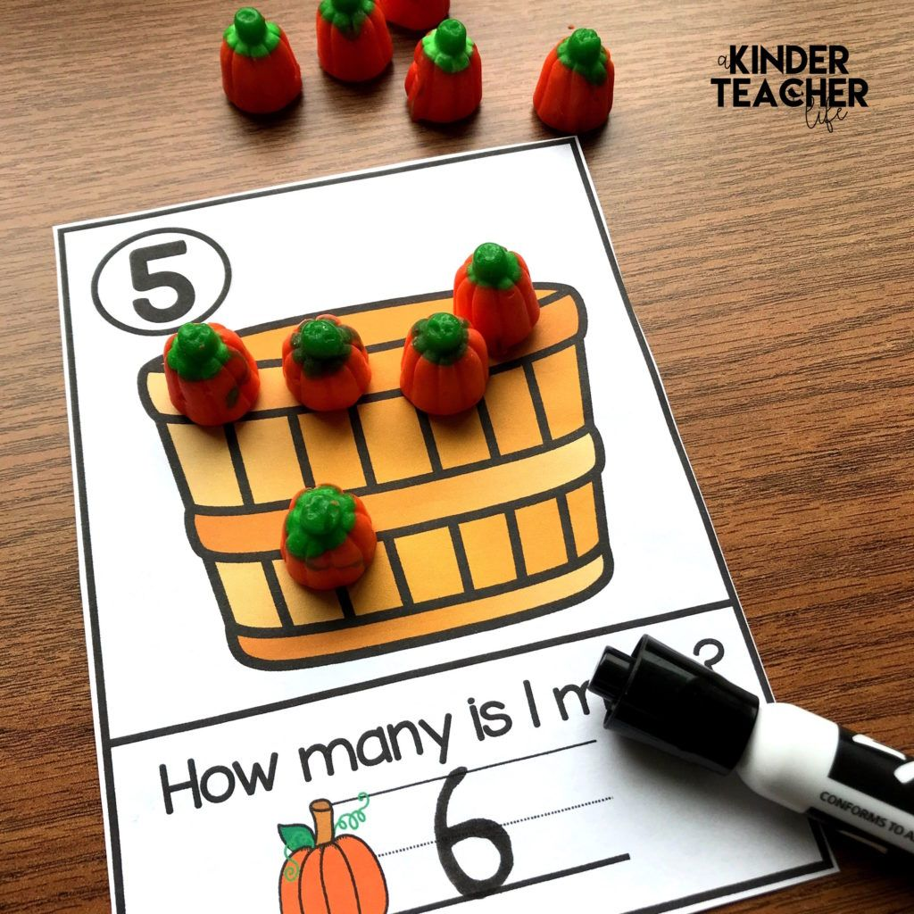 Free Halloween Fall Number Mats