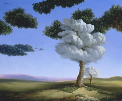 What are some similarities between realism art and surrealism art?