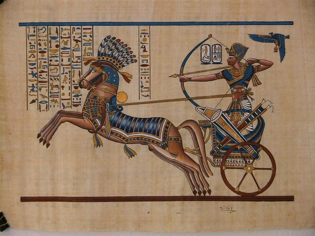 Ancient egypt copy of ancient egyptian wall painting for Egyptian mural paintings