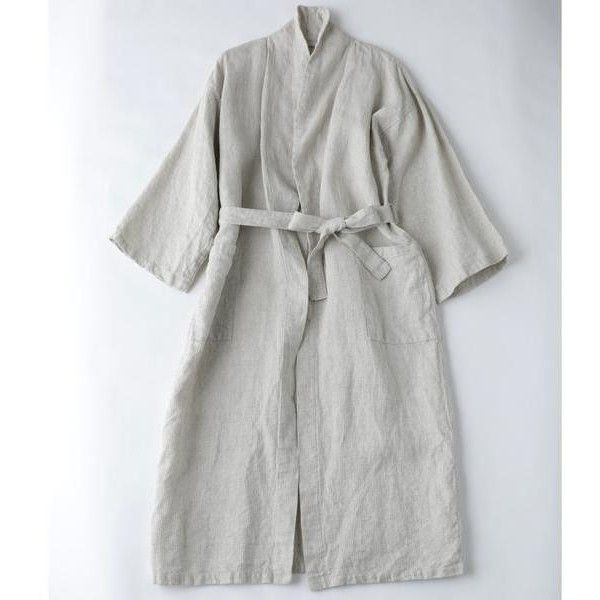 Fog Linen Linen Bath Robe (260 AUD) ❤ liked on Polyvore featuring ...