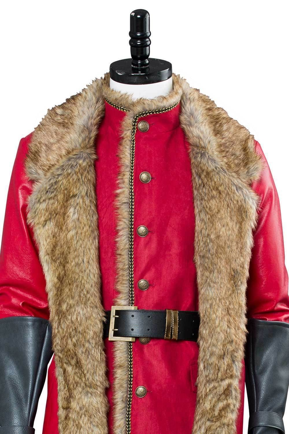 Santa The Christmas Chronicles Claus Cosplay Costume Red Coat Outfit