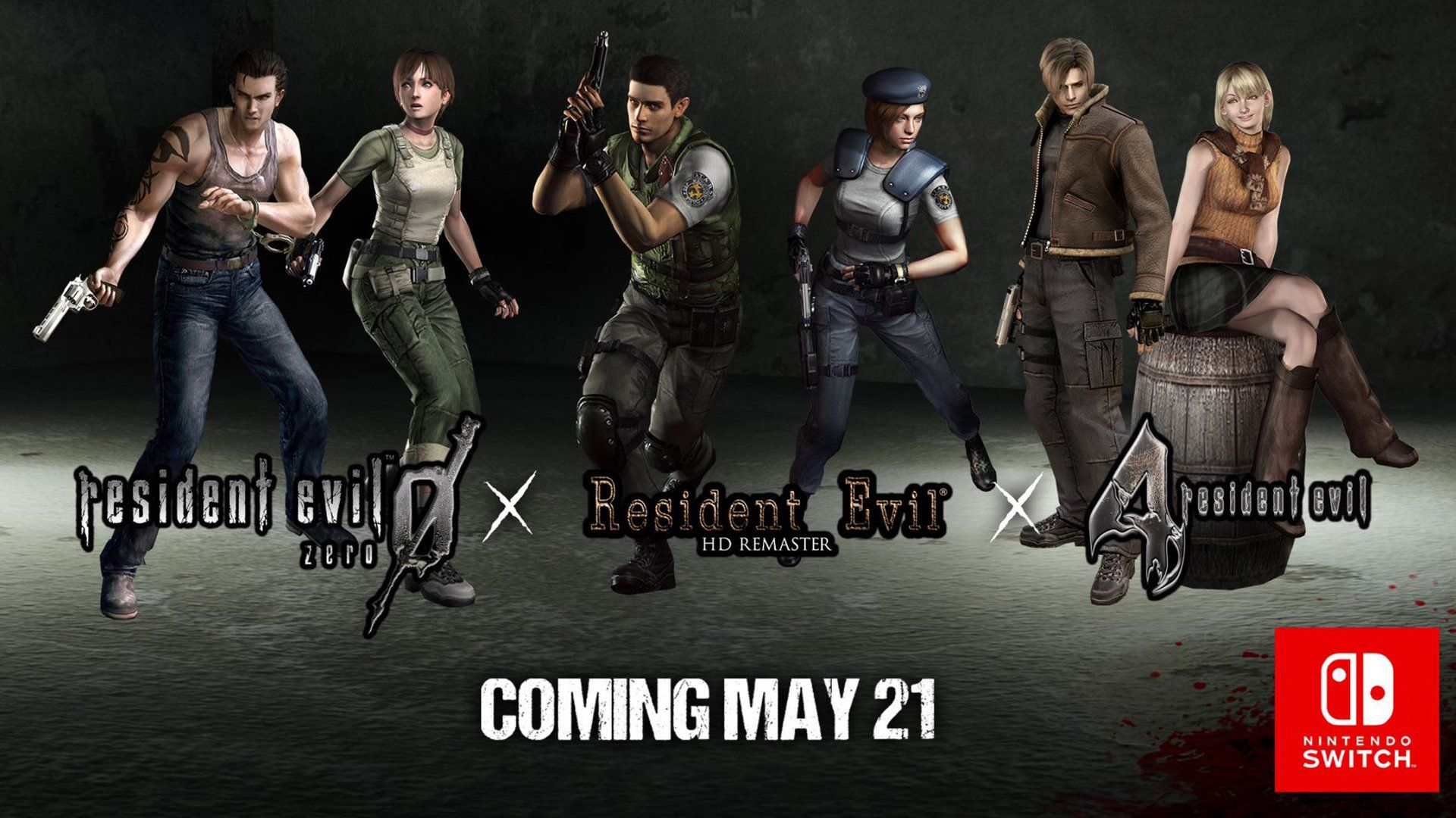 Resident Evil 0 1 And 4 Coming To Nintendo Switch Resident Evil Resident Evil Game Evil Games