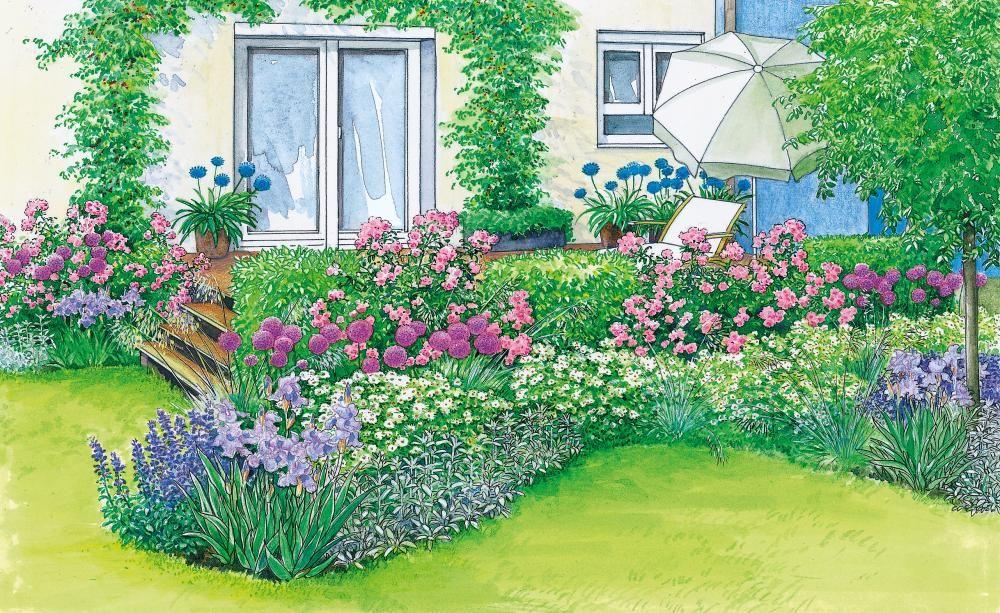 Harmonische Terrassen-Gestaltung #blumenbeetanlegen