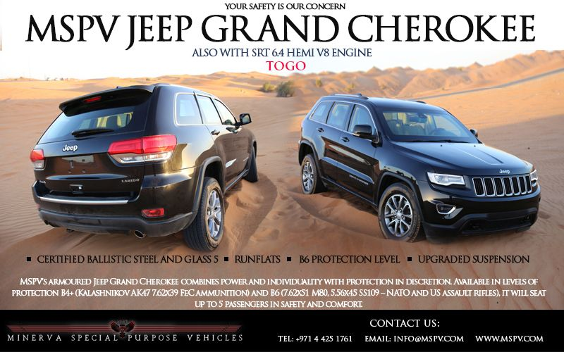 Armoured Jeep Grand Cherokee Togo Armored Vehicles Best Armor