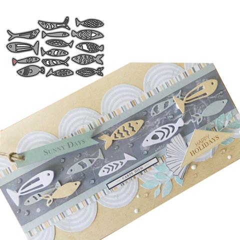 Fish school Metal Cutting Dies For DIY Scrapbooking Card Paper Album ZY