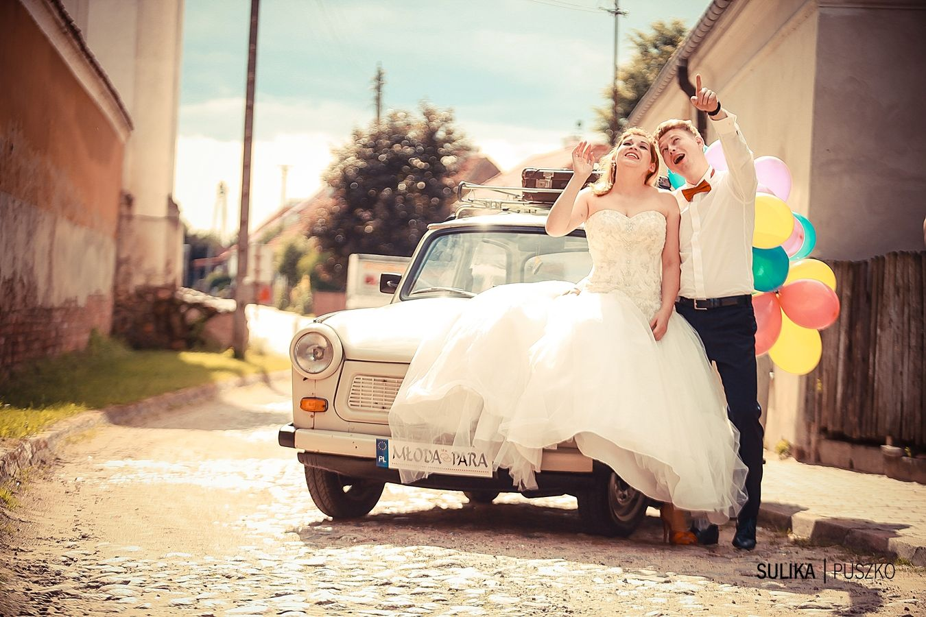 Aneta I Kuba Sesjaplenerowa Trabant Fotografia ślubna Sulika