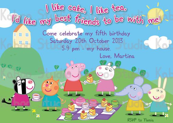Peppa pig birthday invitations nz new invitations pinterest peppa pig birthday invitations nz stopboris Image collections