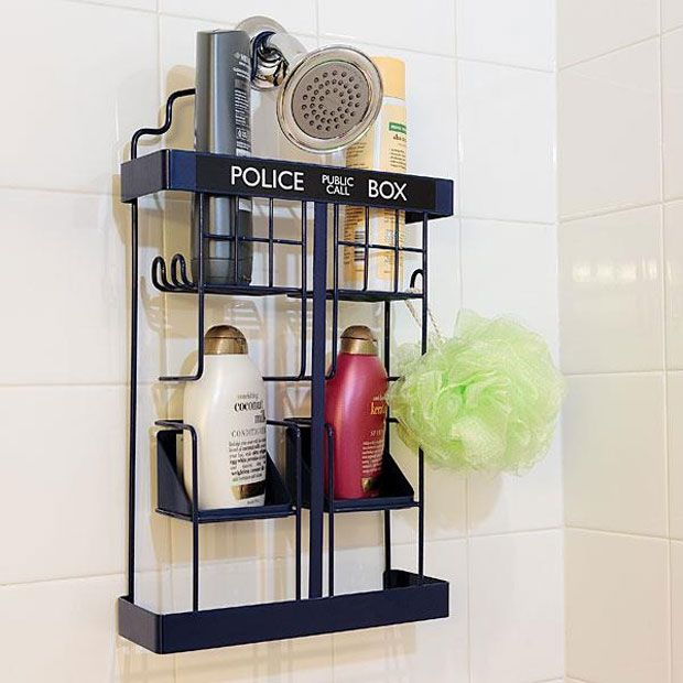 Doctor Who Tardis Shower Rack Helps Whooligans Get Clean