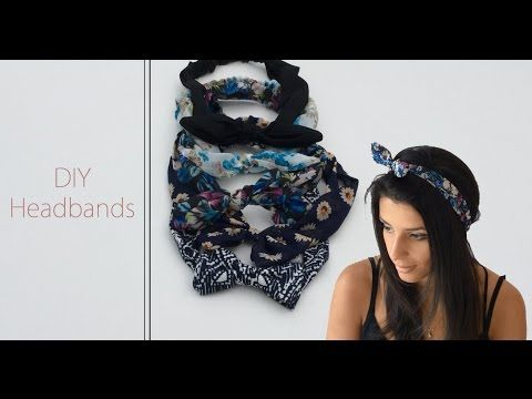 DIY Couture - Comment faire des headbands | Cecile - YouTube