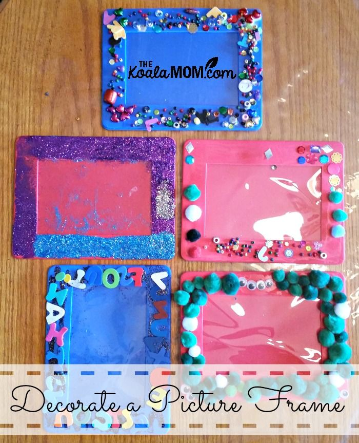 Decorate A Picture Frame Picture Frame Crafts Picture
