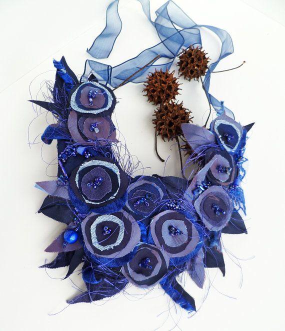Morning beauty VII fiber wearable art unique floral by Cesart64