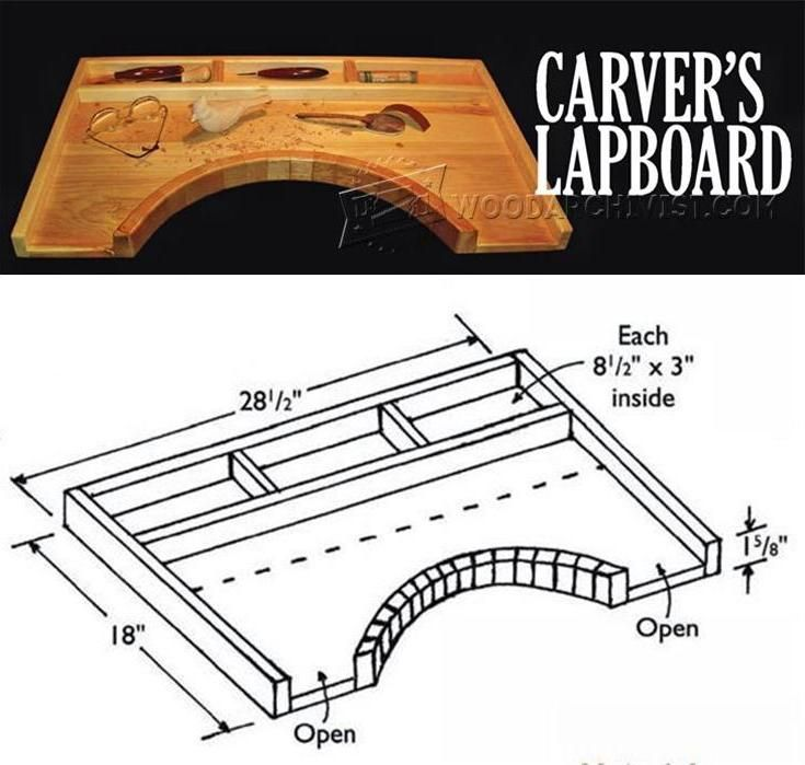 Portable carving station plan wood patterns and