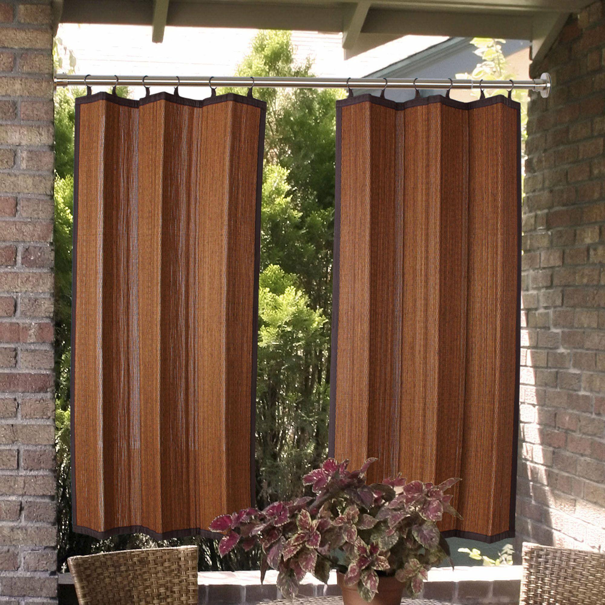 Indoor Outdoor Duo Tension Rod Set Outdoor Curtains Outdoor