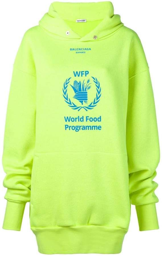 Balenciaga World Food Programme Hoodie Farfetch Hoodies World Food Programme Balenciaga