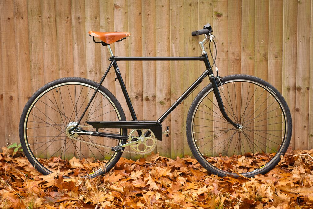 A 70s Puch touring frame powder coated and changed from 26\