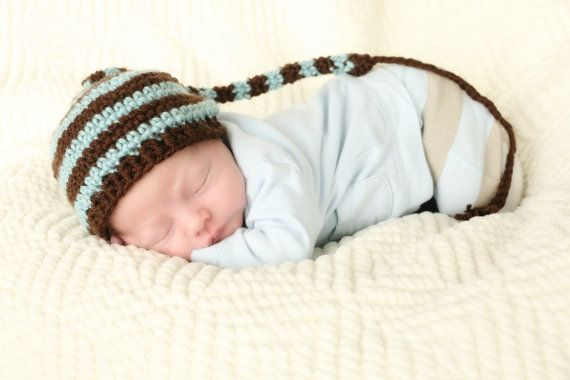 Striped Sleeping Cap Crochet Pattern Crochet Ideas Pinterest