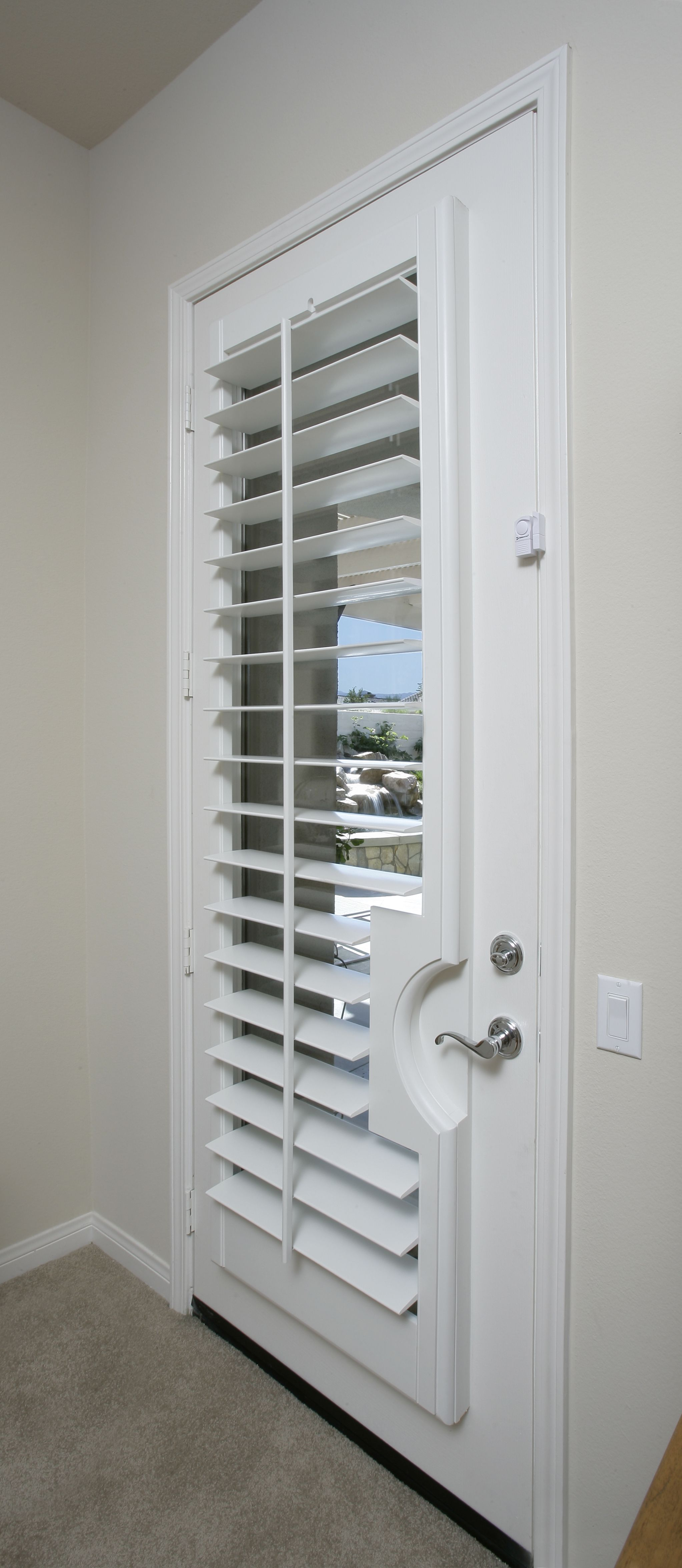 Plantation shutters designed specifically for your doors can be