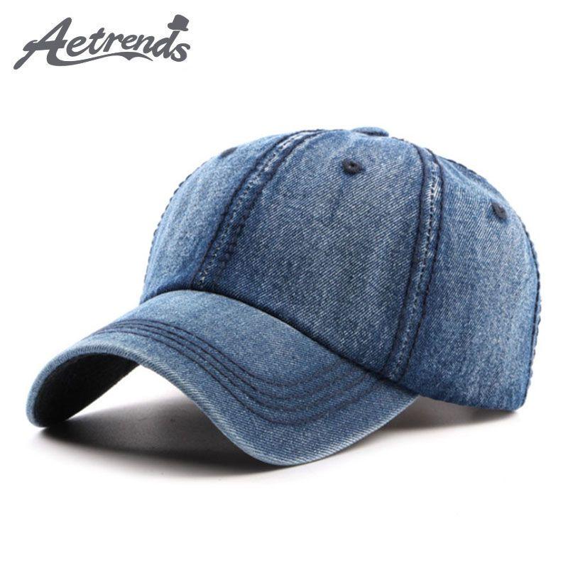 Denim Blue Baseball Cap Men Women Bone Snapback Hats Summer Caps Z-5330 4c85f9494450
