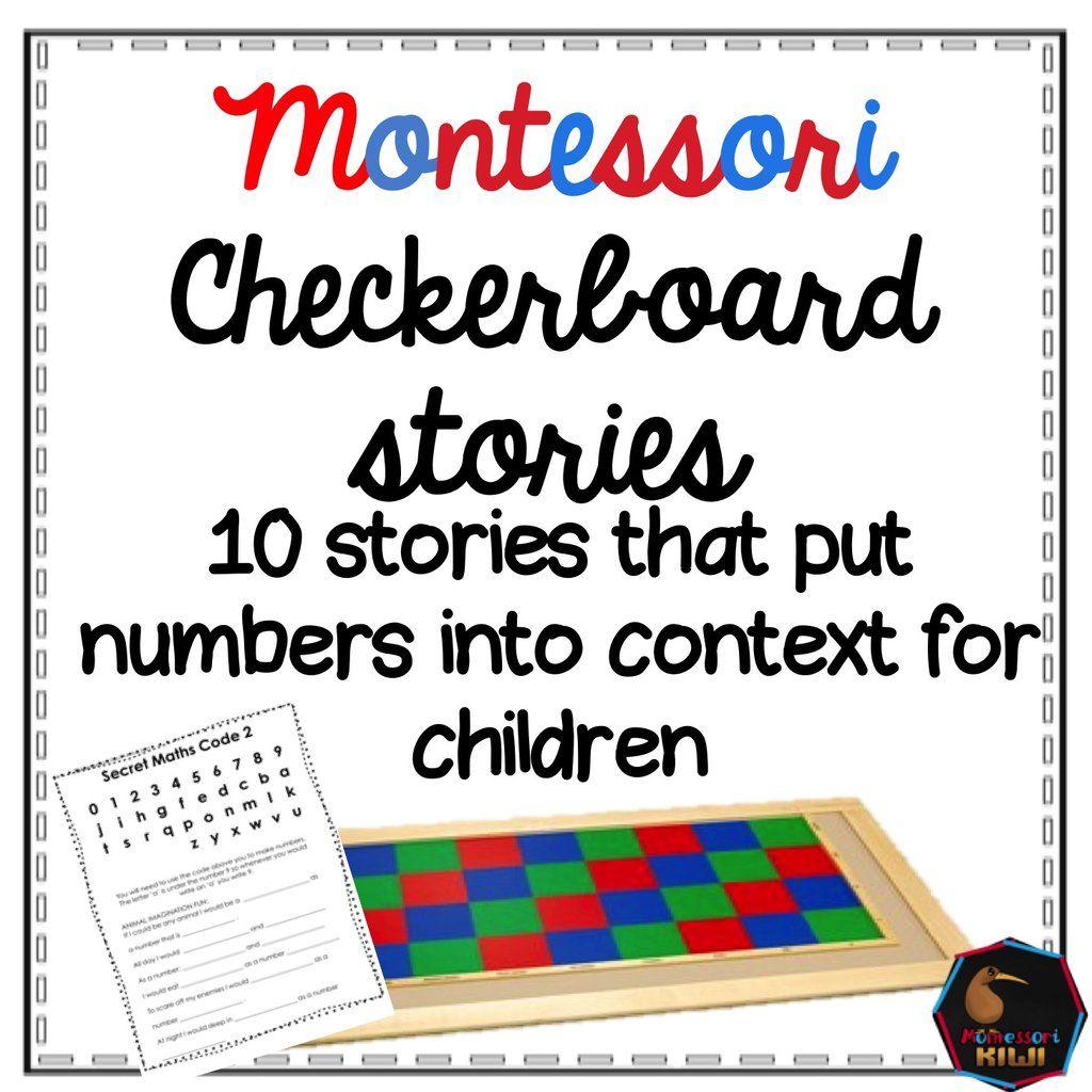 Checkerboard Stories | Classroom | Montessori math