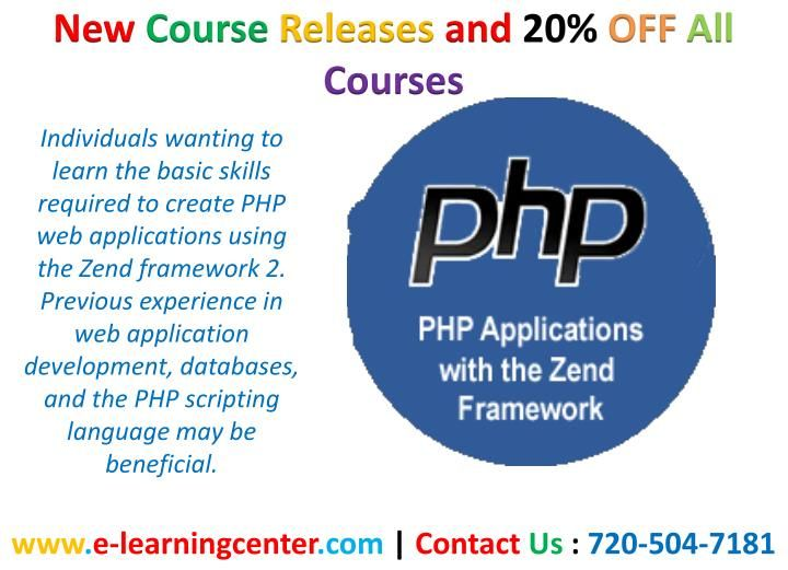 PHP Applications with the Zend Framework Learning