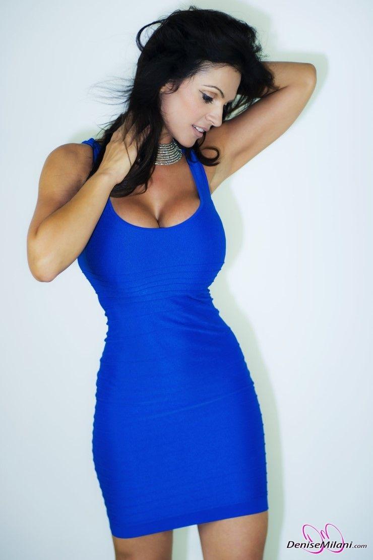 denise milani blue dress - photo #23