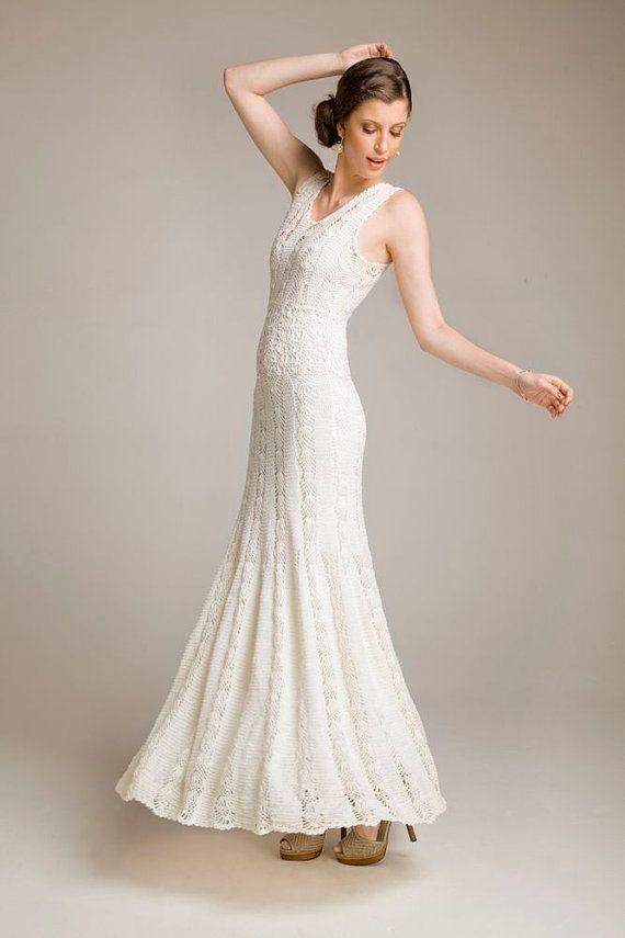 Handmade crochet women summer dress / wedding dress / Made to order ...