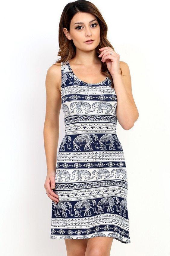 Different pattern dresses