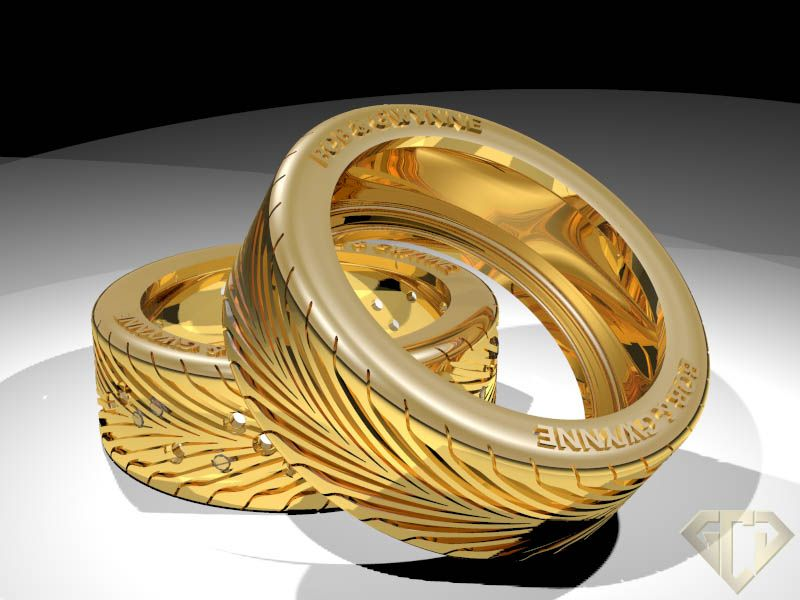 sports tire ring by golden crown jewelers - Tire Wedding Rings