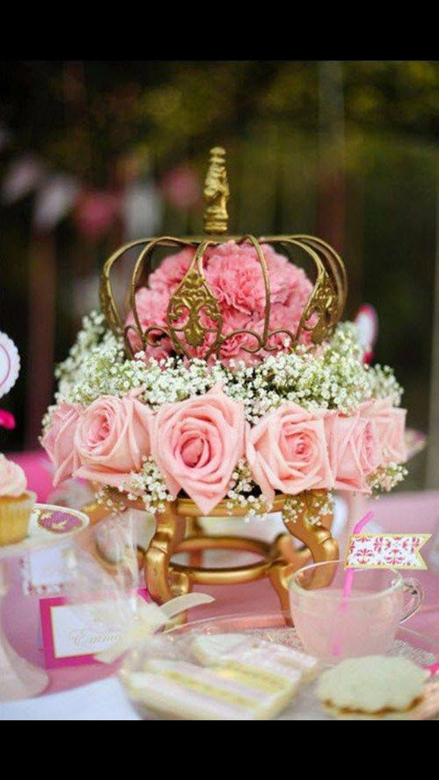 Crown floral arrangement bridesmaid luncheon september