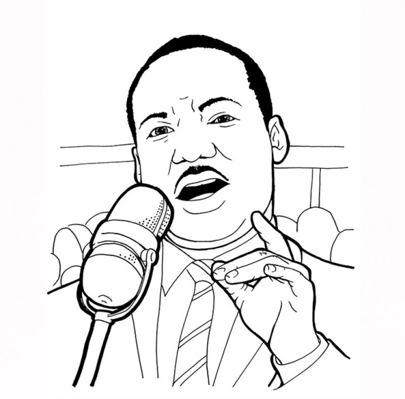 American Legend Martin Luther King Jr Coloring Pages
