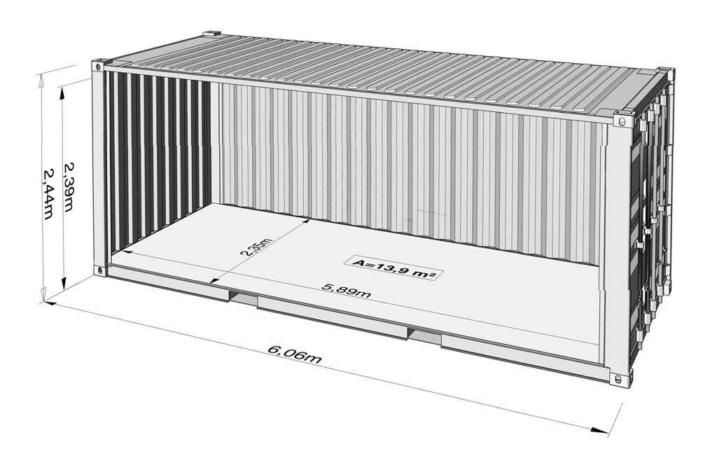 A Guide To Shipping Container Sizes Big Box Containers In 2020 Shipping Container Sizes Shipping Container Container Shop