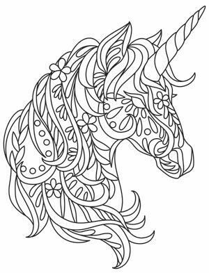 2017 11 30 unicorn coloring patterns mandalas for Unicorno triste