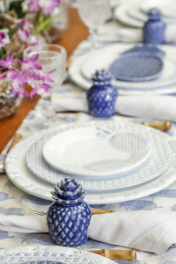 clima de picnic com coleção Abacaxi, da Theodora Home