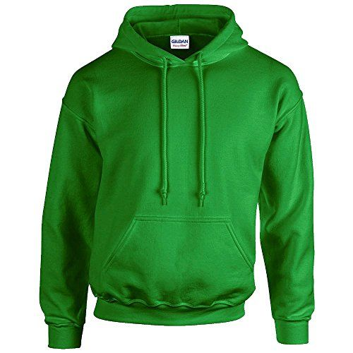 Gildan Heavy Blend Erwachsenen Kapuzen-Sweatshirt 18500 Irish Green, XL -  http:/