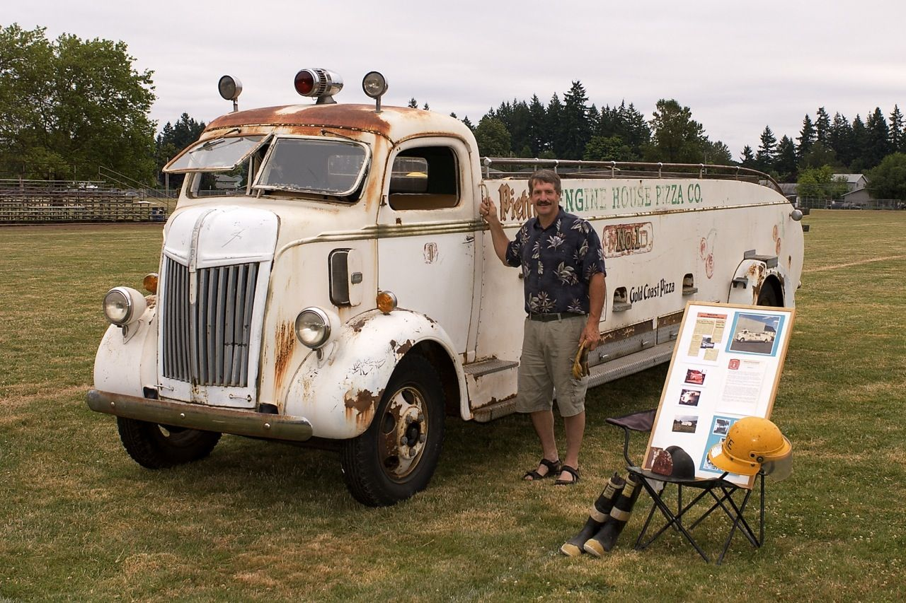 Me By My 1941 Ford Coe City Service Ladder Truck Newberg Fire Dept 5 In 1976 With Only4800 Original Miles