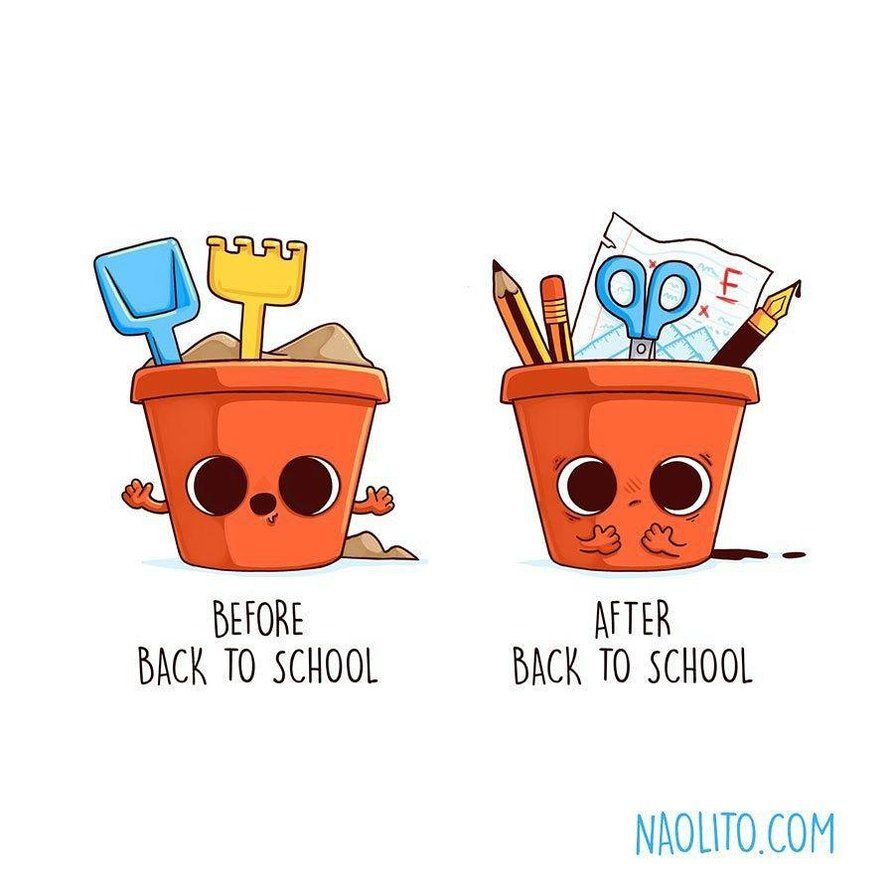 Best Funny Illustration Before After Back To School by Naolito on DeviantArt 9