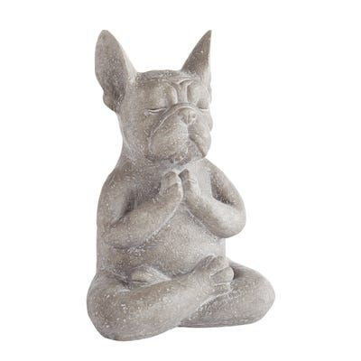 Modern French Bulldog Yoga Dog Statue Fawn french