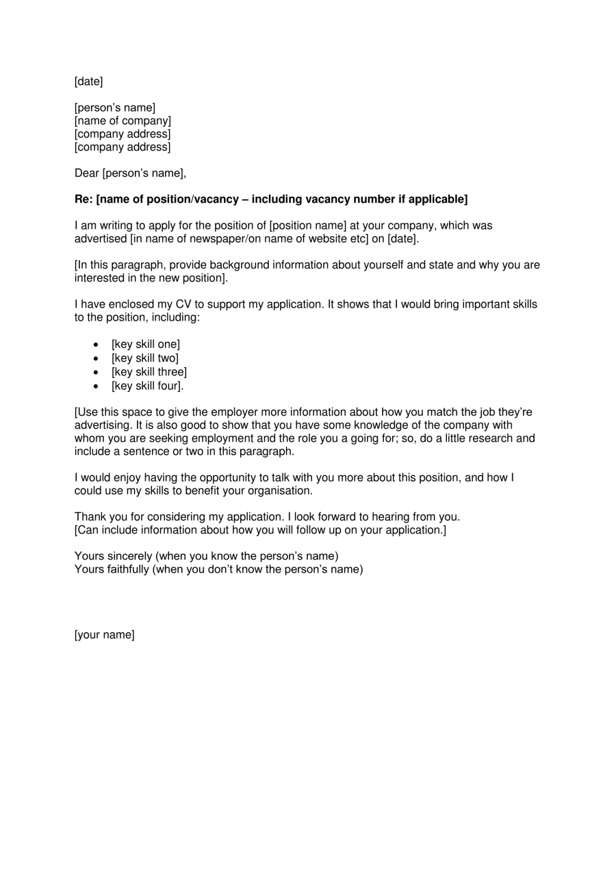 Cover Letter Template  Templates    Cover Letter