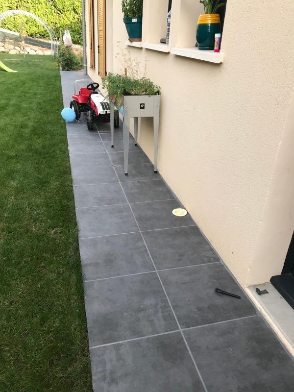 carrelage sol extérieur medio effet béton anthracite