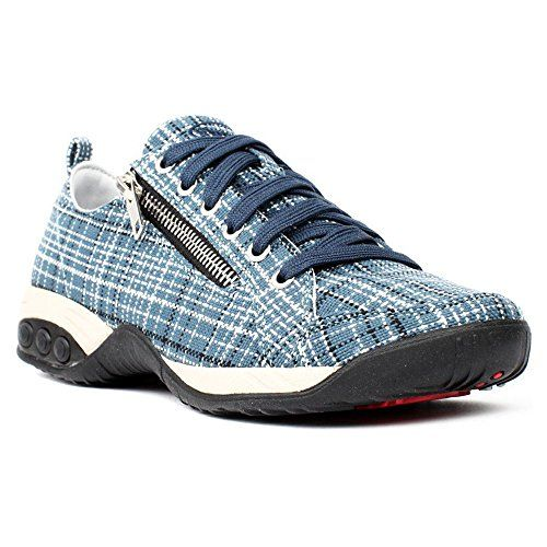 Therafit Therafit Shoe Women's Sienna Side Zip Sport Casual Walking Shoe.  Women's OxfordsSport CasualBlue PlaidWalking ...