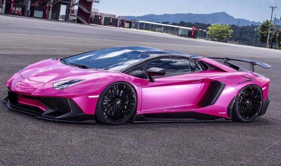 Liberty Walk Unleashes Pink Wide Body Lamborghini Aventador Sv Can